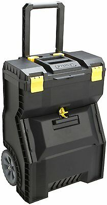 Stanley 018800R Mobile Work Center by Stanley Handle folds down for storage STN