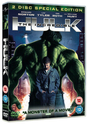 The Incredible Hulk DVD (2008) Edward Norton, Leterrier (DIR) cert 12 2 discs
