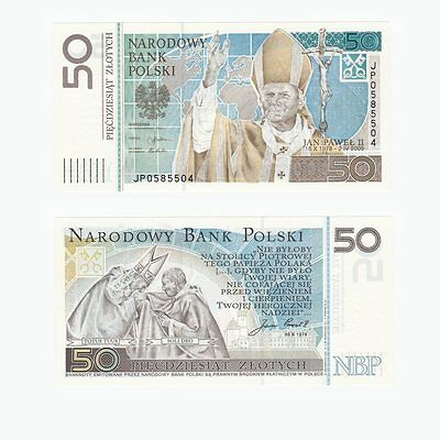 POLAND - 50 Zlotych Banknote - Pope John Paul II - P.178 - UNC