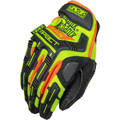 Mechanix Wear Cr5 M-Pact Impact Protection Gloves Mens Work Glove Hi-Viz Yellow