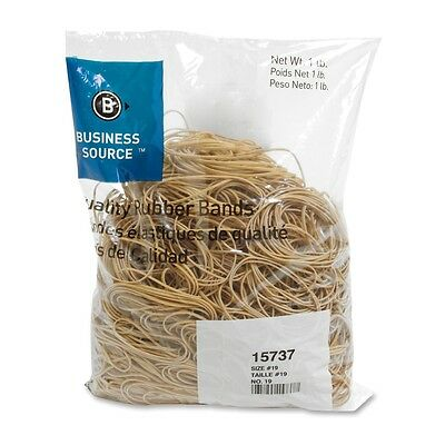 """Rubberbands Size 19  3 1/2"""" x 1/8"""" x 1/32"""" Business Source BSN 15737   5 lb"""