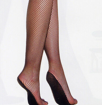 Music Legs 9002 Tights Fishnet Pro Show Girl Foot Pad Lycra Blend Regular Black