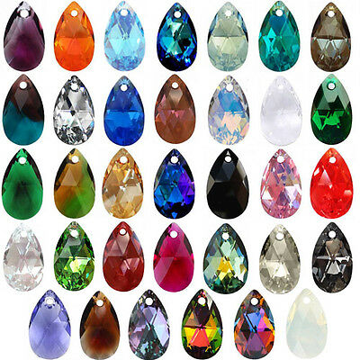 d4c12ebfa Genuine SWAROVSKI 6106 Pear Shape Crystal Teardrop Pendants, all colours &  sizes