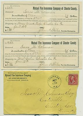 1900 Mutual Fire Insurance Company of Chester County,PA Documents & Ad Cover