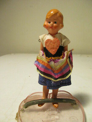 Vintage Jointed - Hand-Painted Porcelain Doll - GERMANY - Blonde Girl Doll