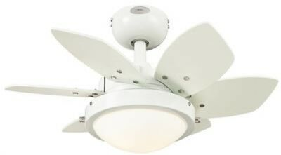 Westinghouse 7247100 - Quince 24-Inch Reversible Six-Blade Indoor Ceiling Fan