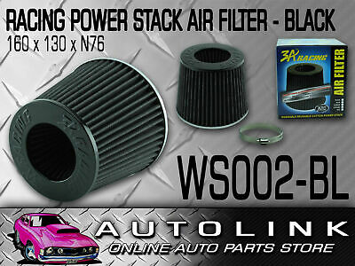 "3A RACING PERFORMANCE AIR POD FILTER 3"" OR 73mm BLACK RE-USABLE WINNER 601.2 CFM"