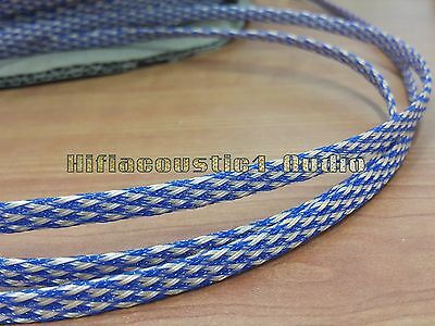 HIFI Cable Sleeving High Density Braided 8mm Expandable Sleeve Audio