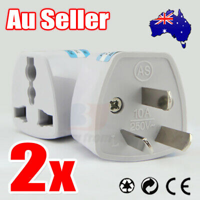 2x NEW UK USA EU to AU AC Power Plug Adapter Travel Converter Australian