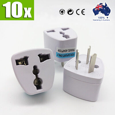 10x NEW UK USA EU to AU AC Power Plug Adapter Travel Converter Australian