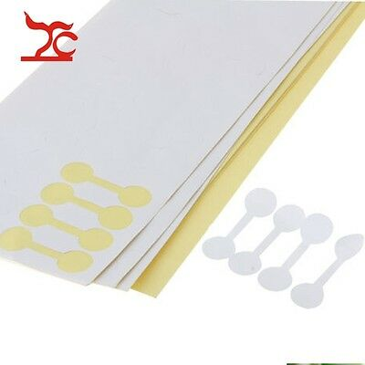 400pcs Round Ring White Price Label Display Tags Paper Jewelry Sticky Stickers
