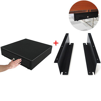 350T Heavy Duty Manual Cash Drawer with Under Counter Bracket Mount Kits