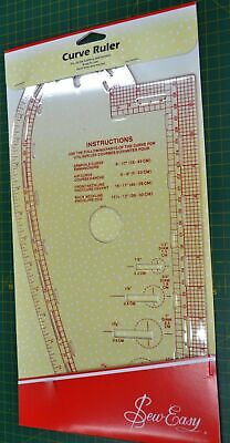 SEW EASY CURVE RULER, 35 x 18cm, FOR KNITTERS & SEWERS, SAVES TIME & MONEY