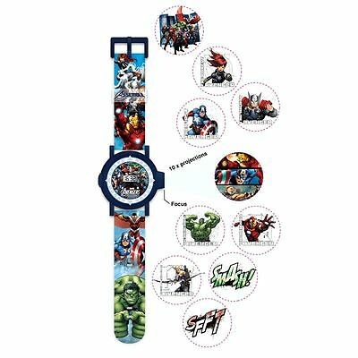 Official Marvel Character Childrens Projection Watch - Hulk Captain America Iron