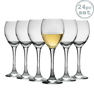 White Wine Glasses Drinking Glass Set, 245ml (8.6oz) - Party Pack of 24