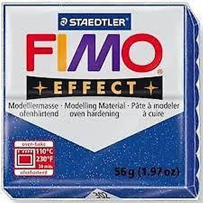 Fimo Effect Polymer Clay  - Glitter Blue No 302
