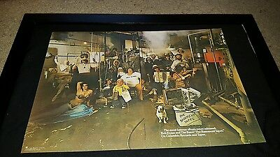 Bob Dylan And The Band Basement Tapes Rare Original Promo Poster Ad Framed!