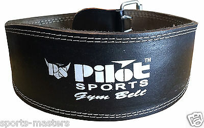 PS Leather Gym Belt - 6 inch wide back support