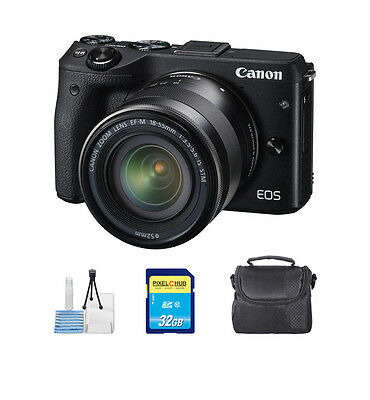 Canon EOS M3 Mirrorless Digital Camera with 18-55mm Lens Blk NEW STARTER BUNDLE!