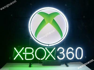 Rare XBox 360 Game Room Beer Home Bar Real Glass Neon Light Sign FASt FREE SHIP