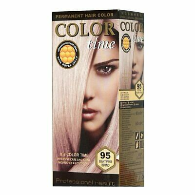 Color Time, Tinte Permanente para el Cabello Color Rubio Rosa Claro 95