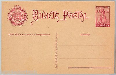 ANGOLA -  POSTAL HISTORY: POSTAL STATIONERY CARD -  Higgings & Gage # 21
