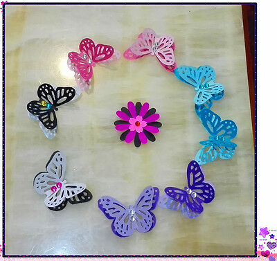 DIY 10 X 3D pcs large Paper Punch Engraving Butterflies for Scrapbooking, cards