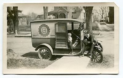"Old Photo: ""BUTTER FLAKE BREAD"" Delivery Truck"