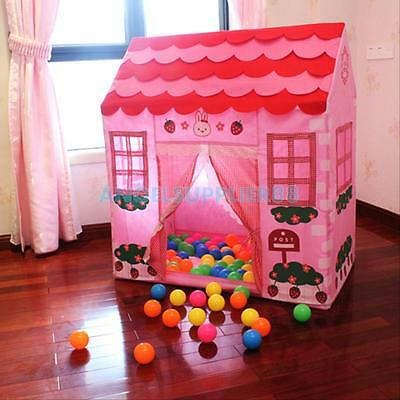 Pink Playhouse Play Tent Kids Girls Fairy Princess Castle Play House Cubby Hut