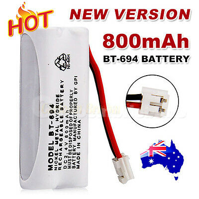 800mAh 2.4V Cordless Phone for Uniden Battery BT-694 BT-694S Ni-MH