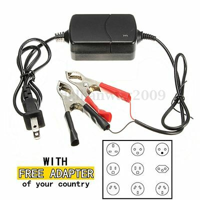 12V/1.2A Car Truck Motorcycle Smart Compact Battery Charger Tender Maintainer