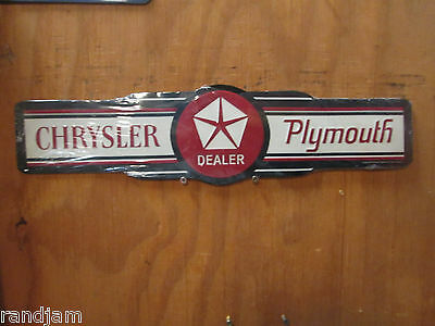 A Chrysler Plymouth  Embossed Metal Display CUDA CHALLENGER Dodge Mopar Viper