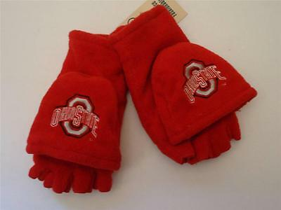 check out 05ecd 94dbb NCAA Ohio State Buckeyes Logo Fleece Convertible Mittens NCAA, Red