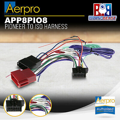 Aeropro Pioneer To Iso Connector Plug Harness 16 Pin For Avh-x8750bt Wiring Loom