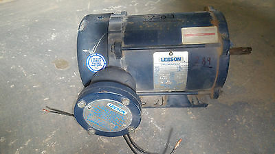 #289 LESSON EXPLOSION PROOF 208-230/460v ELECTRIC MOTOR 1HP RPM1725/1425
