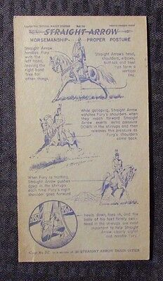1940 Nabisco STRAIGHT ARROW Horsemanship Book 1 #32 VG- 4x7.25""