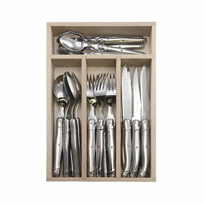 NEW Laguiole by Andre Verdier Debutant Cutlery Set Mirror 24pc Stainless (RRP $3