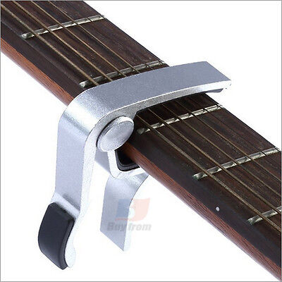 Silver Guitar Capo Spring Trigger Electric Acoustic Clamp Quick Change Release