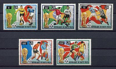 s5043) HAUTE VOLTA 1974 MNH** World Cup Football - Coppa del Mondo Calcio 5v