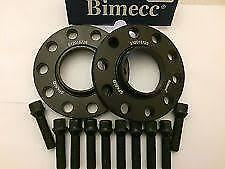 VW Audi Alloy Black 12mm Wheel Spacers Spacer Kit 5x100/112 57.1 + OE Bolts