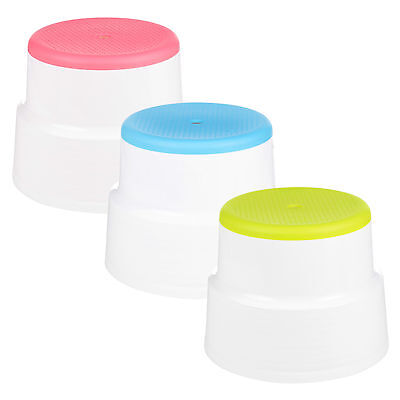Round Multi Purpose Sturdy Plastic Step Up Stool Home Kitchen Stacking Footstool