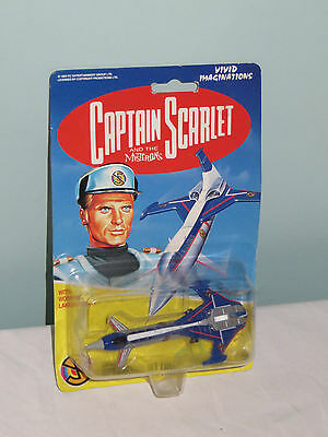 Captain Scarlet and the Mysterons: Spectrum Jet Liner. VIntage new on card 1993