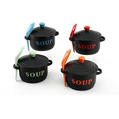 Ceramic Soup Bowl with Lid and Bowl - Various Colours. YOU ARE BUYING ONE BOWL