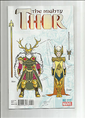MIGHTY THOR (v2) #2 Ltd to 1 for 20 design variant by Russell Dauterman! NM