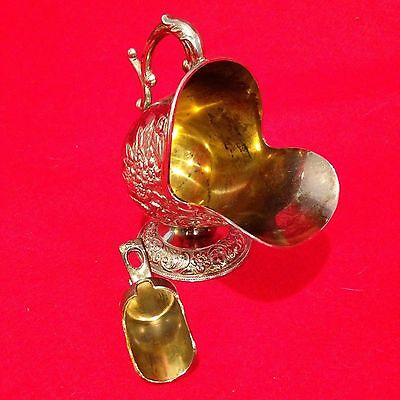 Silver Plated Sugar Scuttle Dish & Scoop