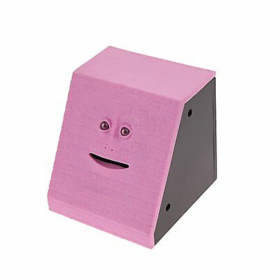 Brick Face Piggy Bank Saving Sensor Coin Eating Money Box HOT Gifts in Pink