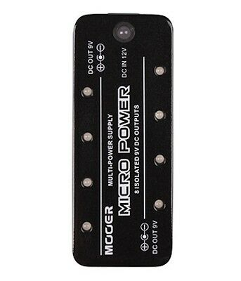 NEW Mooer Micro 9v DC Power Supply 8 Output Micro Guitar Pedal
