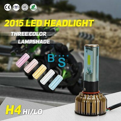 5 colors H4 9003 LED Headlight Conversion Set Motorcycle 40w CREE 6K White Bulb