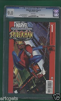 """ULTIMATE SPIDER-MAN #1 CGC 9.0, 1st """"Ultimate"""" title, Marvel, Bagley Cover Comic"""