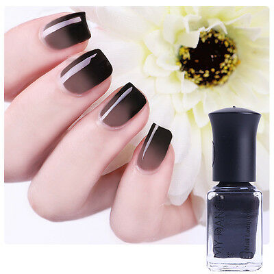 1Bottle 6ml Thermal Color Changing Peel Off Manicure Nail Art Polish Varnish
